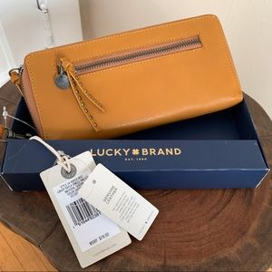 """LUCKY BRAND """" Rayla"""" SAFFRON LEATHER WALLET"""
